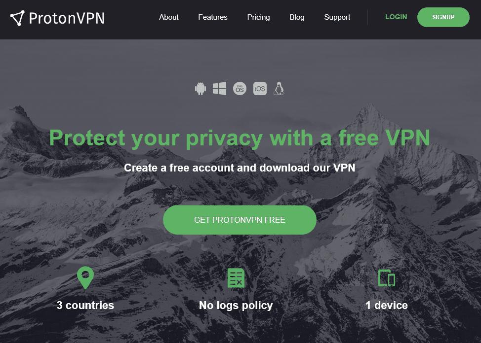 ProtonVPN gratis