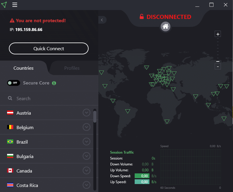 ProtonVPN servere