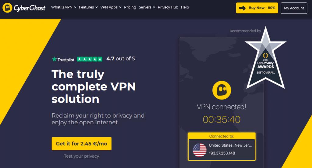 cyberghost hjemmeside