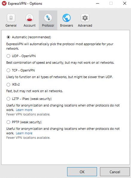 expressvpn protokoller